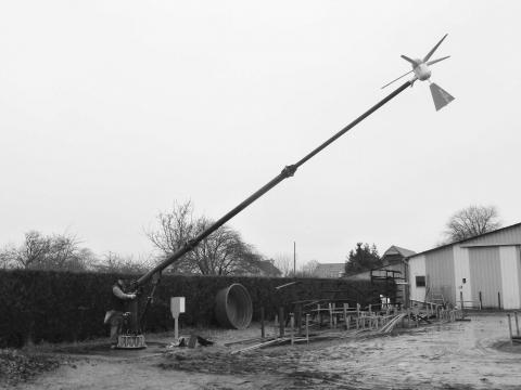 Mâts éolienne autoportant basculant 9 m - Kestrel 160i -NEMESIS